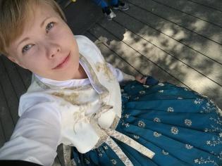 Koreassa kokeilin hanbokia, eli perinteistä mekkoa.